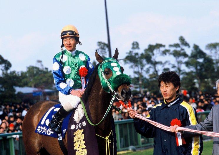 キングヘイローにまたがり高松宮記念で勝利した柴田善臣©Tomohiko Hayashi