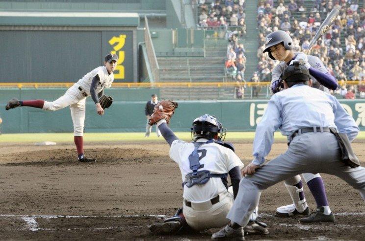 春のセンバツで実現した藤浪(大阪桐蔭)vs大谷(花巻東)©Kyodo News