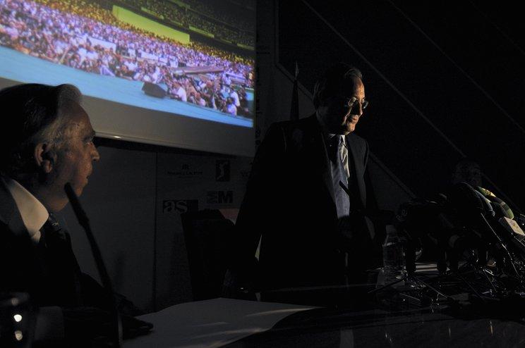 """レアルで数々の""""剛腕実績""""を残すペレス会長が、ESLの会長となる(2009年撮影)©Takuya Sugiyama"""
