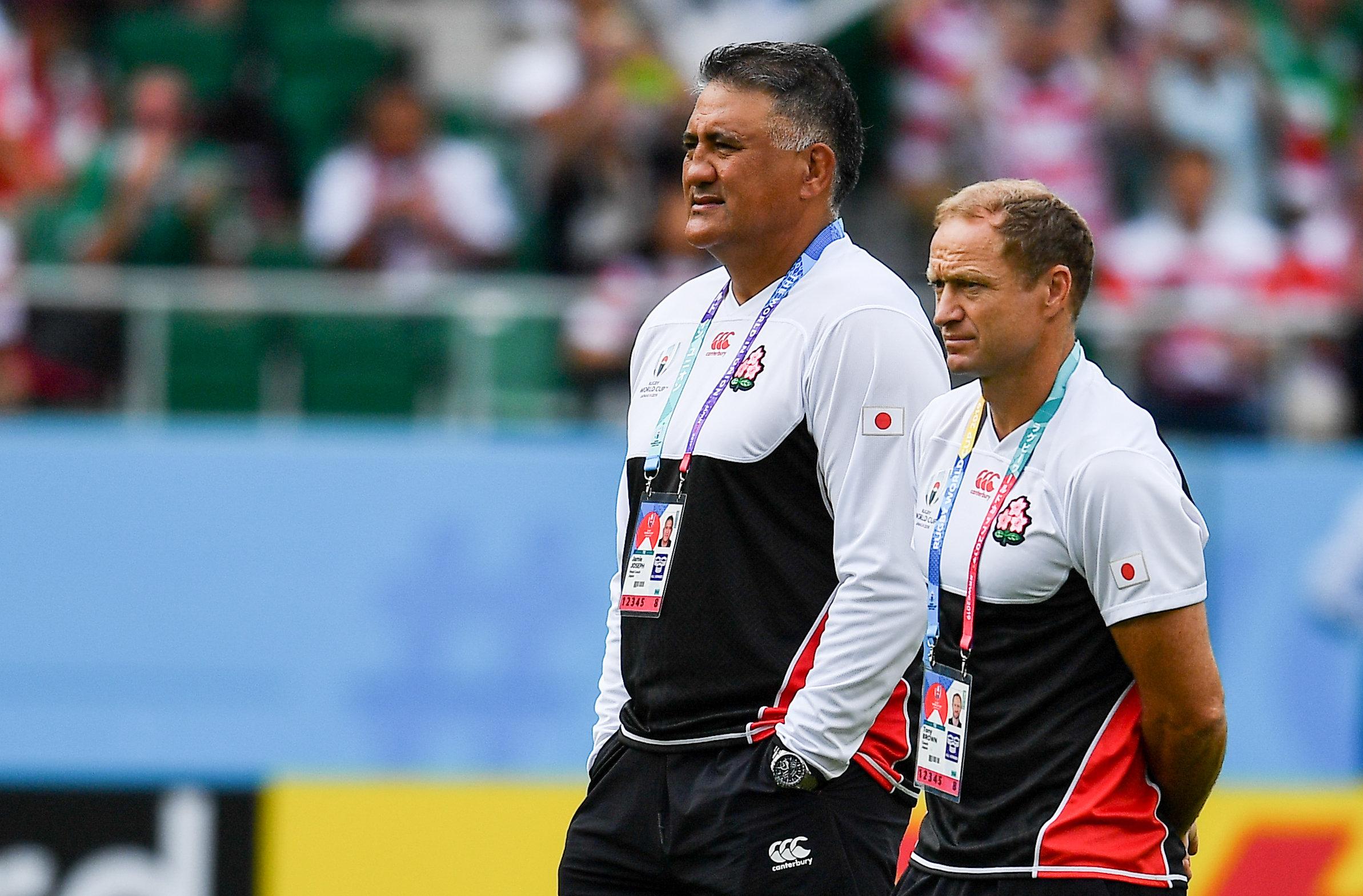 W杯では日本のアタックコーチを務めたトニー・ブラウン(右) ©Getty Imgaes