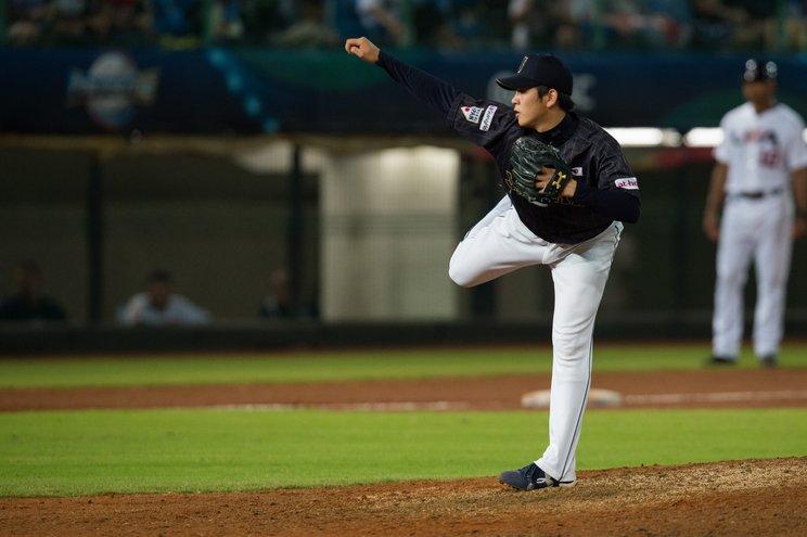 山﨑はプロ入り後、侍JAPANの常連となった(2015年)©Nanae Suzuki