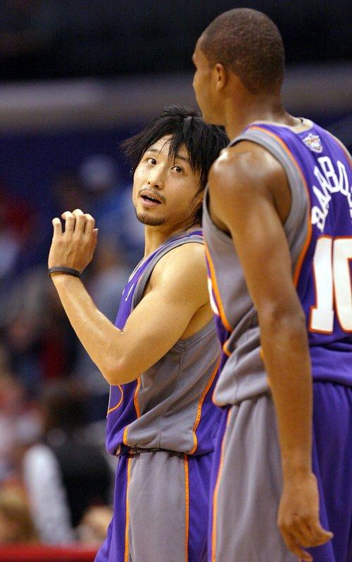 日本人として初の日本人選手となった田臥雄太 ©︎Getty Images