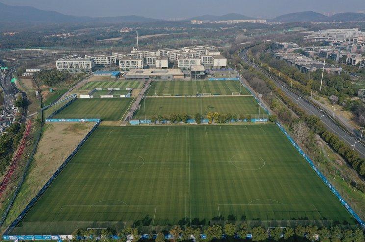 活動停止となった江蘇足球の広大な練習場©Getty Images