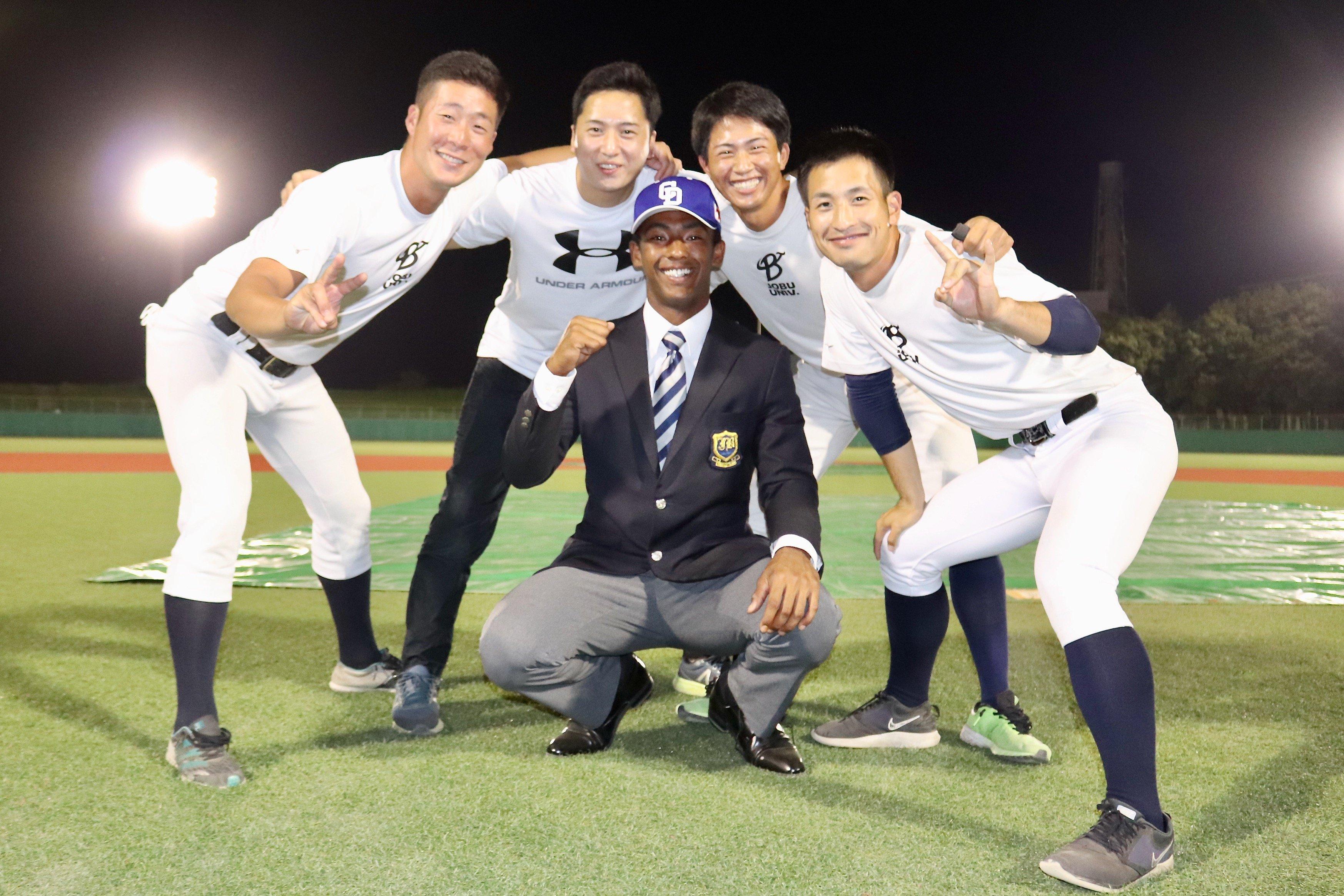 ブライトを説得した(左から)岩本淳太、角永浩武、山脇彰太、井上力斗 ©︎Yu Takagi