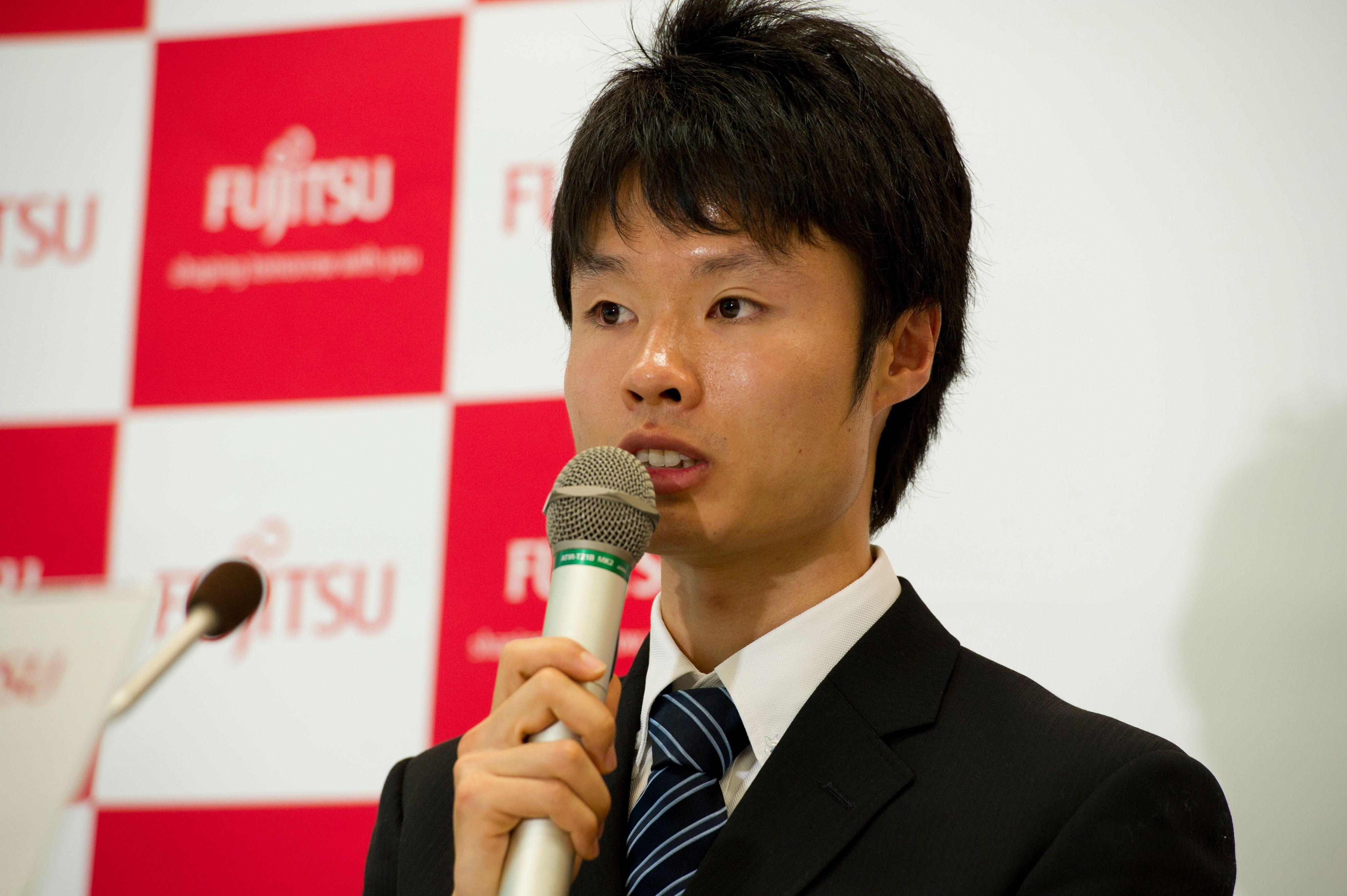 東洋大学卒業後は、富士通へ。入社記者会見も行われた ©Nanae Suzuki