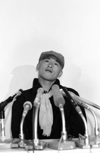 サッカーW杯1998年最終メンバーにもれ帰国記者会見 ©shiro Miyake