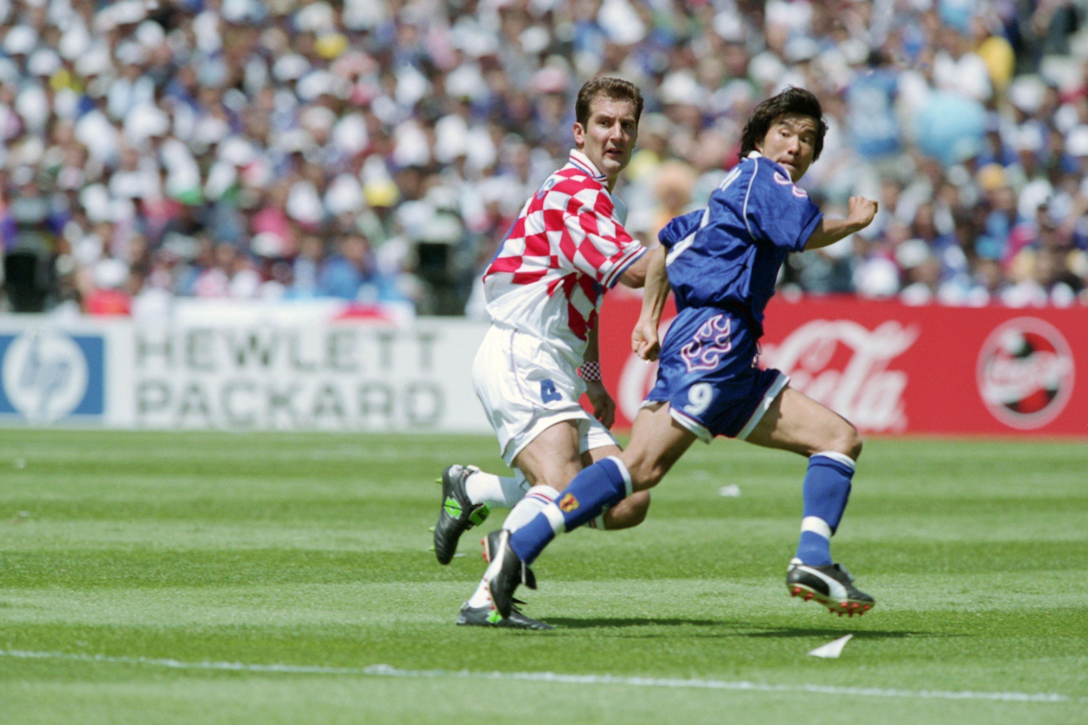 1988年フランスW杯のジャマイカ戦で ©JMPA