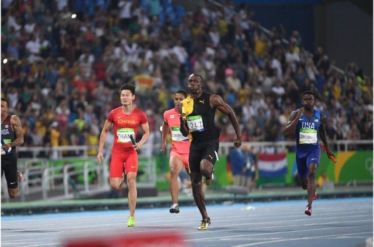 リオ五輪4×100mリレーのボルト ©JMPA