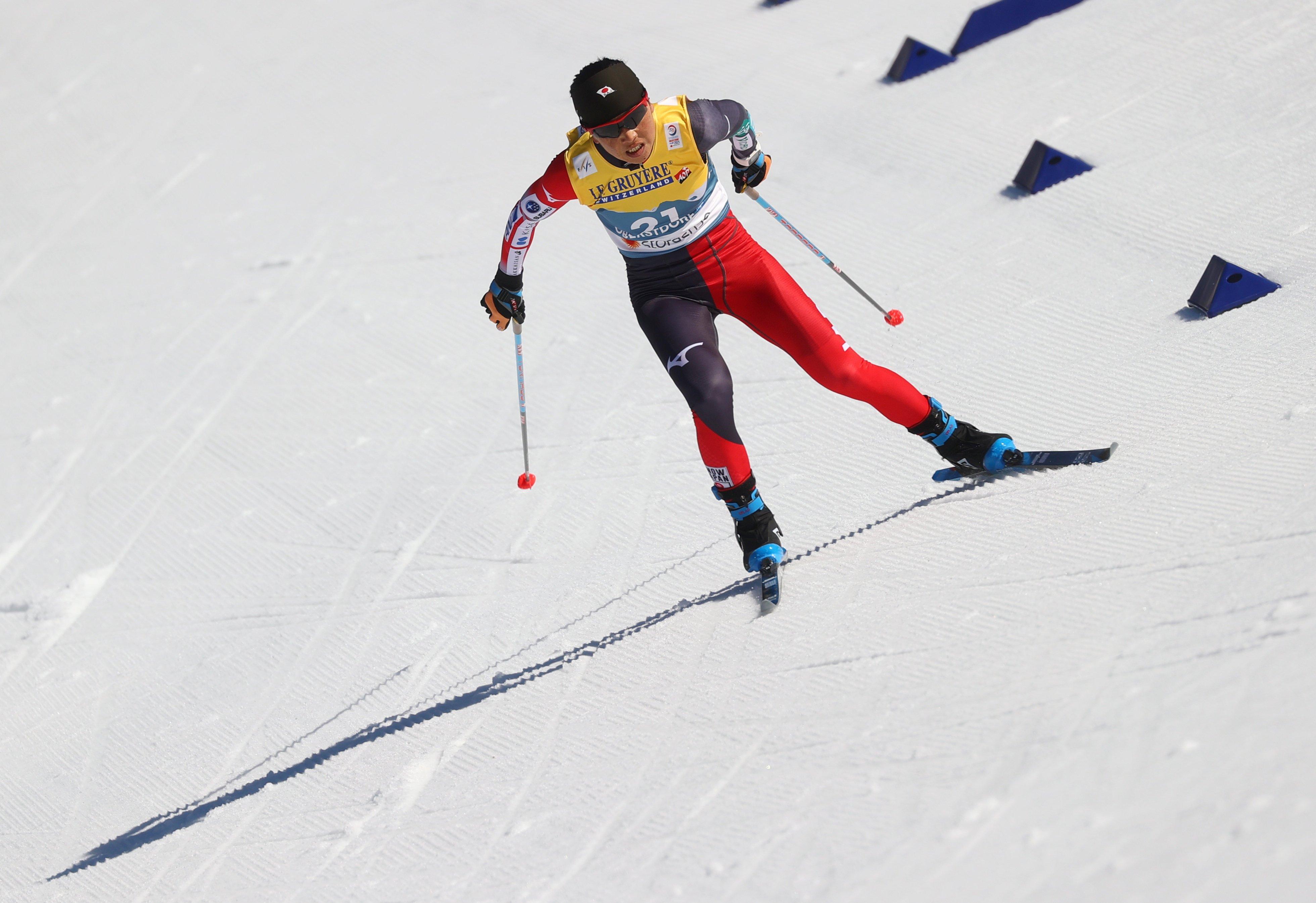 石田はノルディックスキー世界選手権で4種目に出場。最高位は女子団体リレーの10位だった ©REUTERS/AFLO