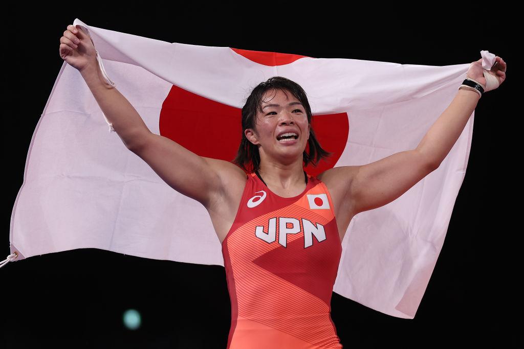 東京五輪のレスリング57キロ級で金メダルを獲得した川井梨紗は高木の同学年 ©Getty Images