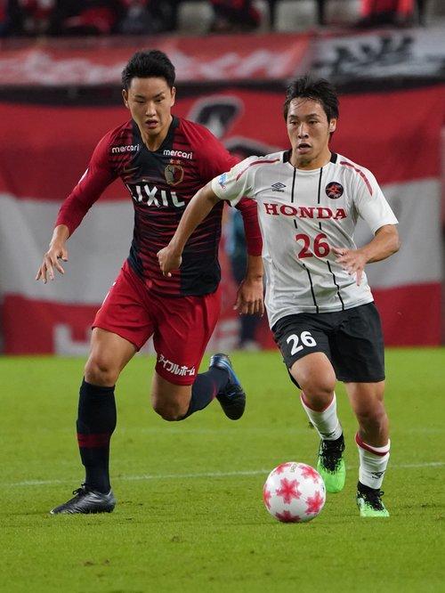 昨年度の天皇杯。鹿島に敗れたが、台風の目となったHonda FCの躍進を支えた ©︎Getty Images
