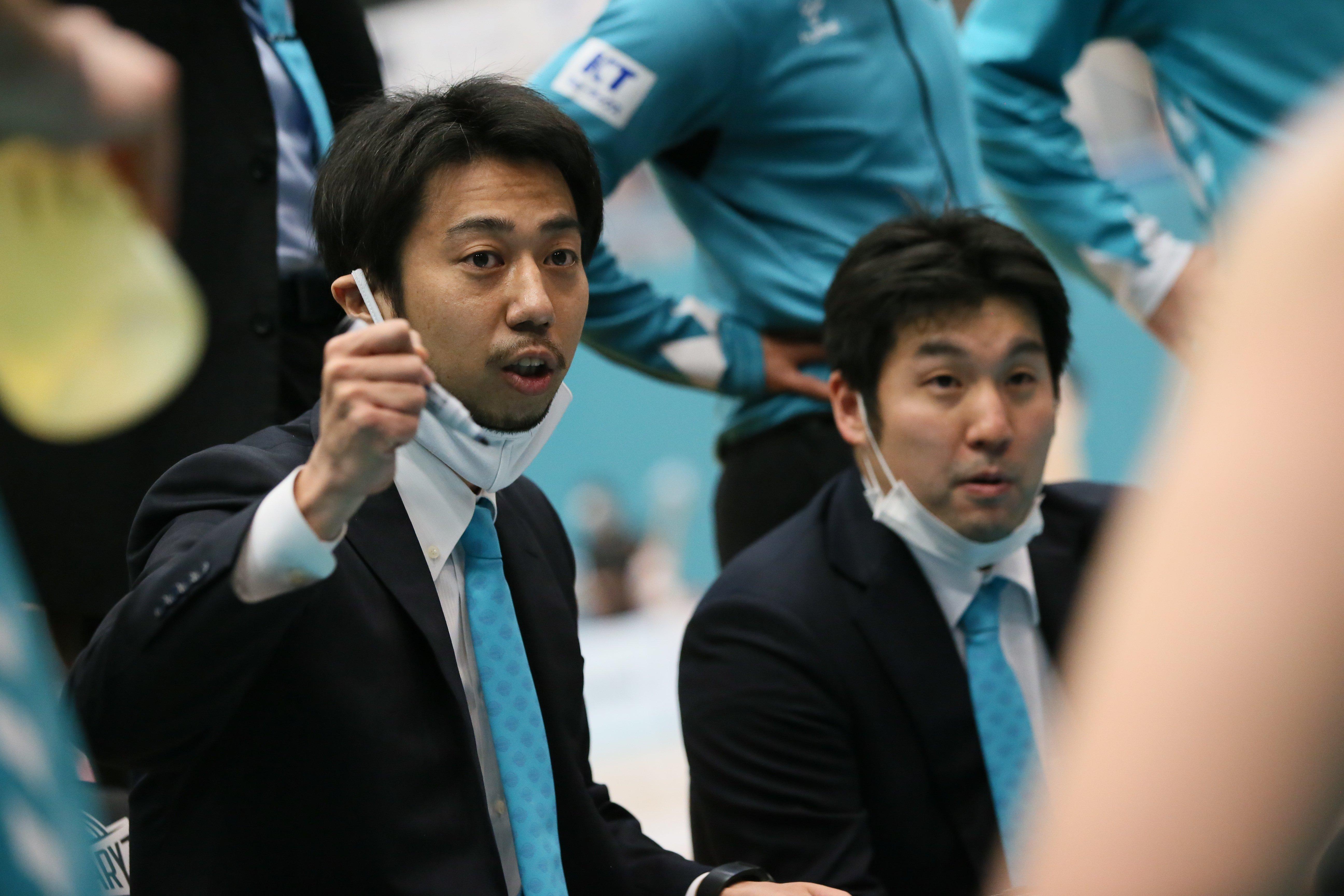 現役時代は滋賀レイクスターズでプレー、15年に引退後も滋賀でコーチを務めていた小川。今季から京都のHCに就任 ©B.LEAGUE