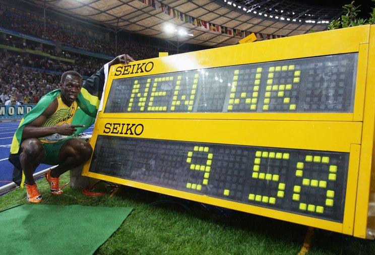 9秒58を出したボルト ©Getty Images