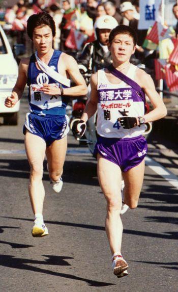 1999年の箱根駅伝、4区で順大を抜いて首位に立ち、区間新記録をマークした藤田
