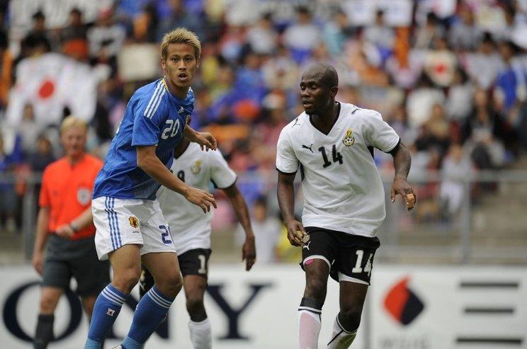 2009年のガーナ戦では本田圭佑らも出場した©Takuya Sugiyama